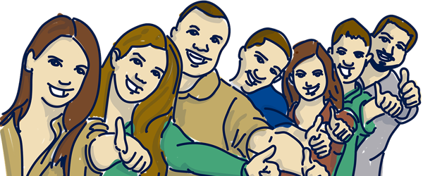 Image of a group smiling