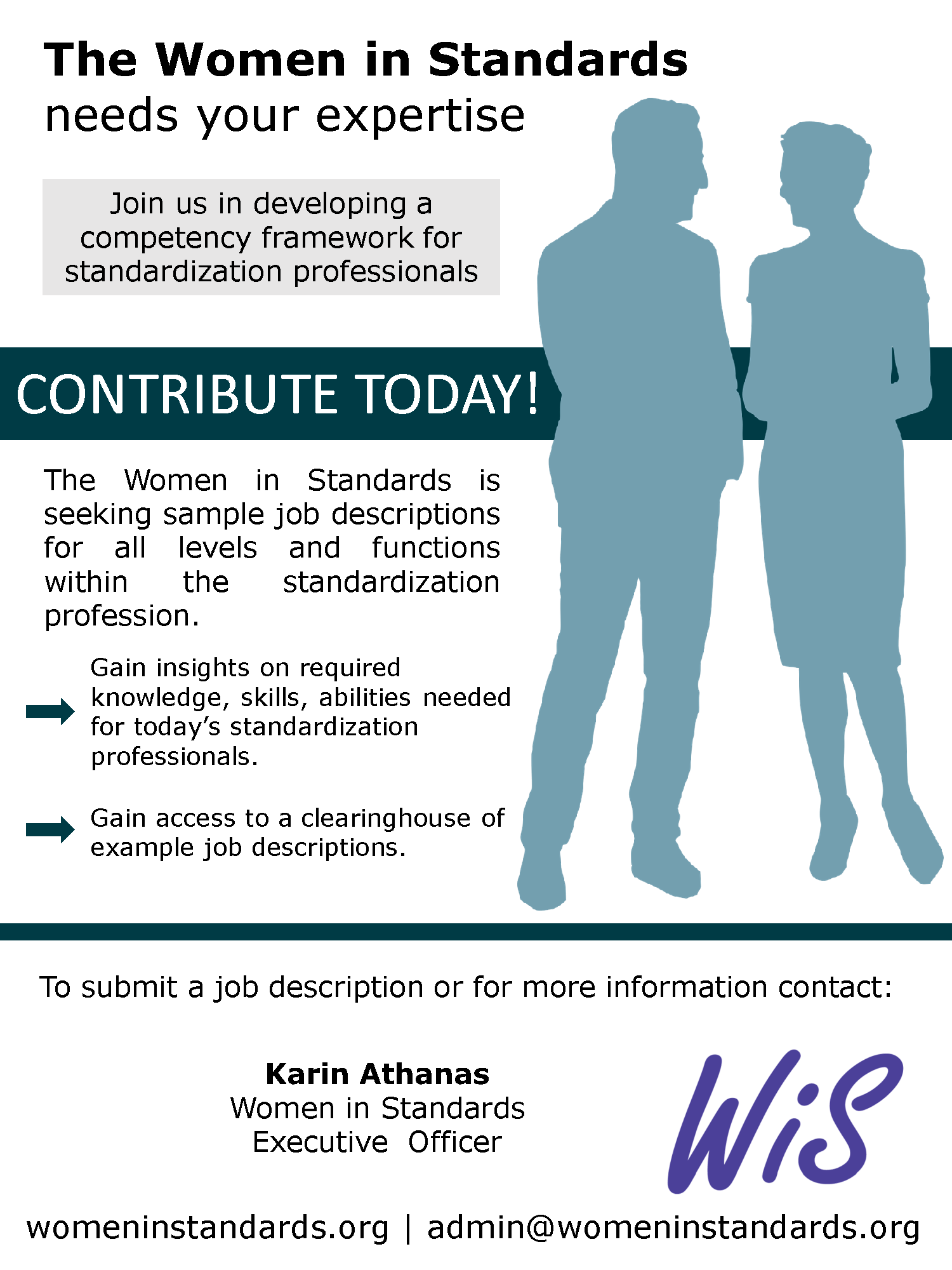 Flyer highlighting the WiS call for job description submissions