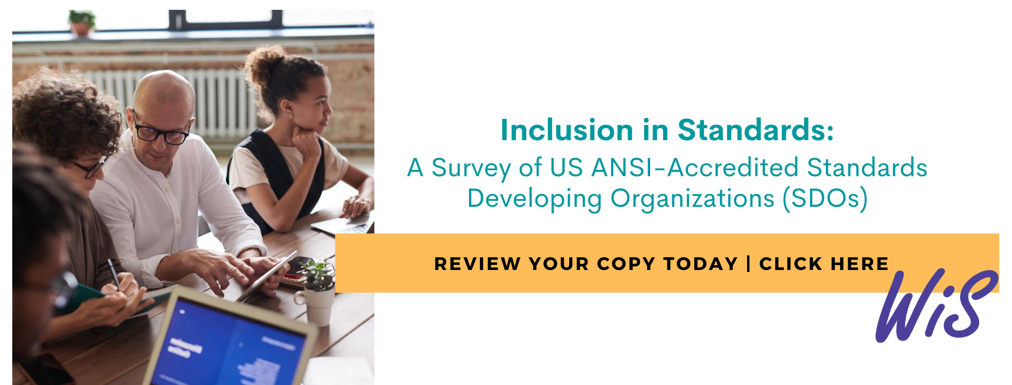 Click image to visit the Inclusion in Standards 2020 Survey Page