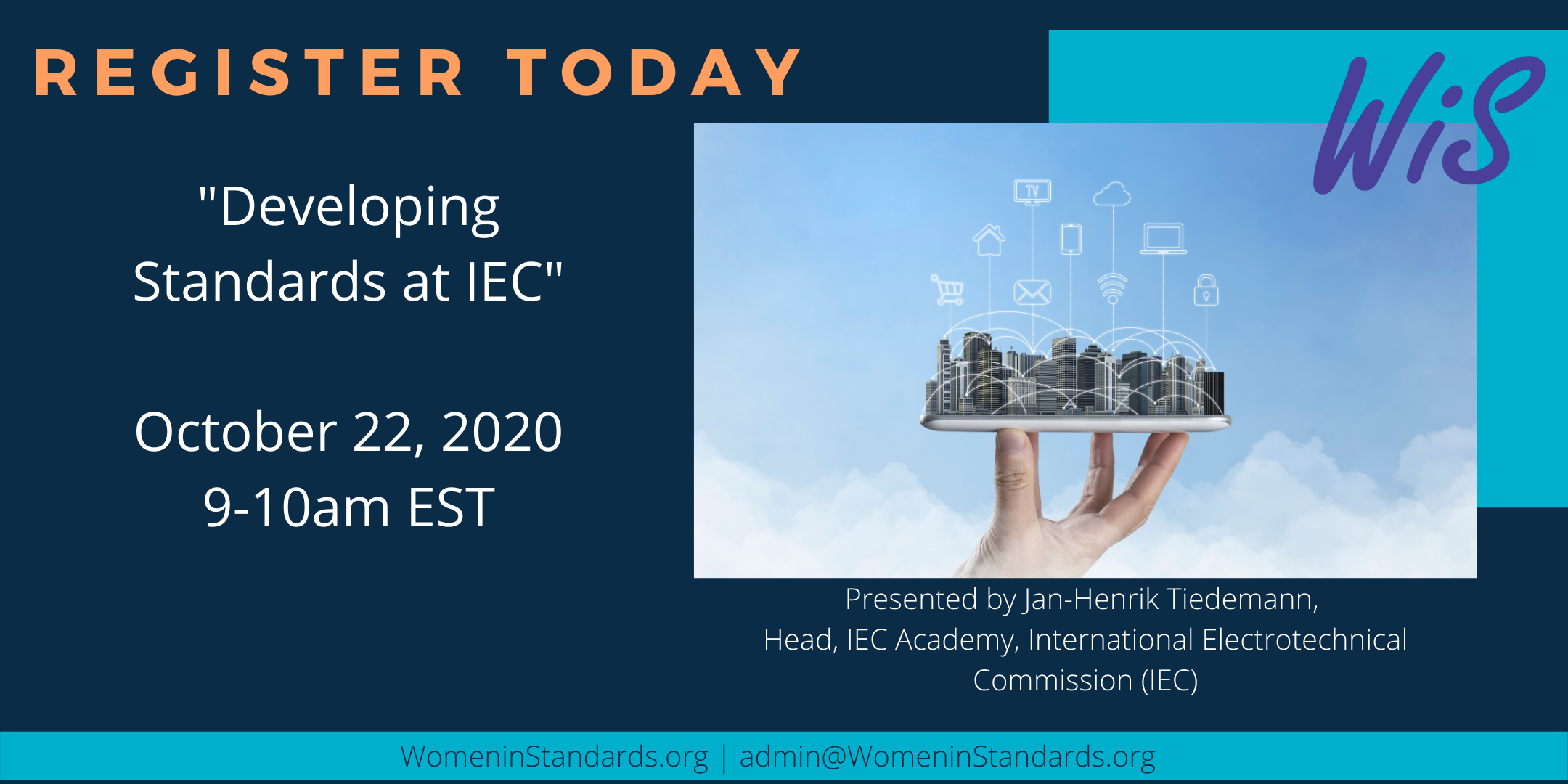 Advert for Webinar on IEC