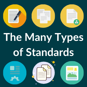 Graphic of the many kinds of standards