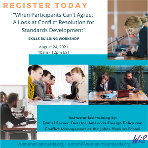 Workshop on Conflict Resolution for Standards Development