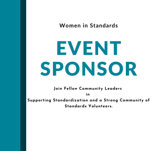 Event sponsor, Join Fellow Community Leaders in Supporting Standardization and a Strong Community of Standards Volunteers.