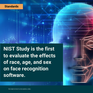 Image of facial recognition with quote from article