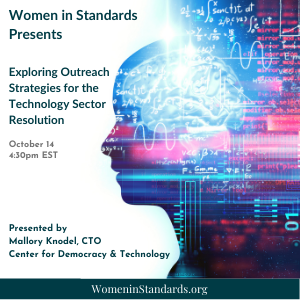 Virtual event graphic for Exploring Outreach Strategies for the Technology Sector Resolution