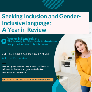 Virtual panel on V. Seeking Inclusion and Gender-Inclusive Language: A Year in Review