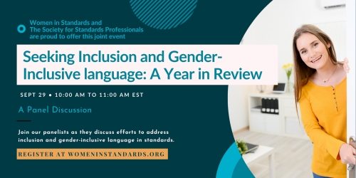 Event advert for WiS-SES Webinar - Seeking Inclusion and Gender-Inclusive language